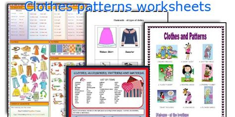 pattern english speaking english teaching worksheets clothes patterns