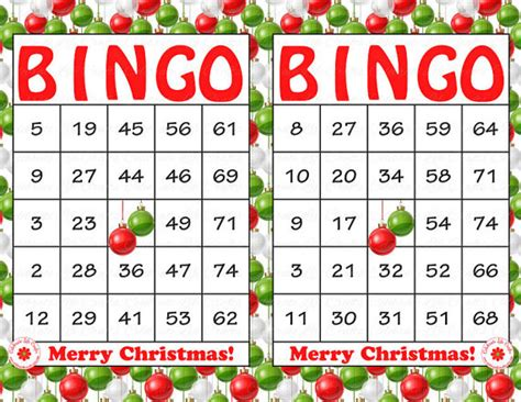 printable christmas bingo game cards 7 best images of free printable christmas bingo kits