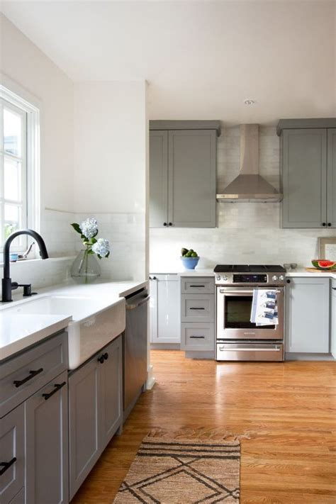 Chelsea Gray Cabinets And Chelsea On Pinterest Black Handles For Kitchen Cabinets