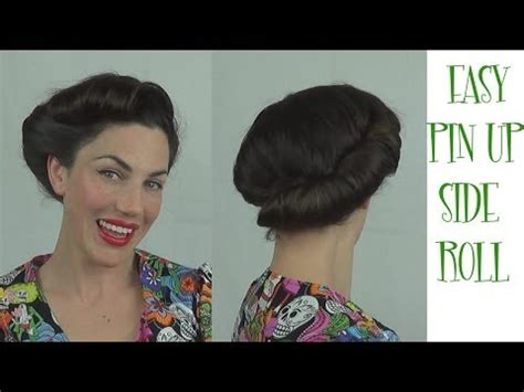 quick and easy retro hairstyles easy pinup hairstyle side roll vintage retro updo youtube