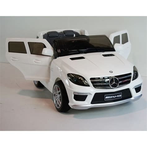 licensed mercedes benz ml amg  kids ride  car  remote control white