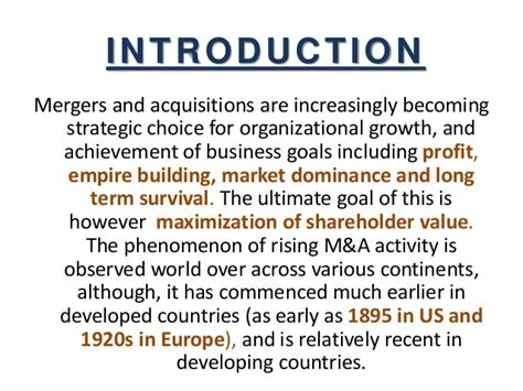 Merger And Acquisition Mba Ppt by Mergers And Acquisition Ppt
