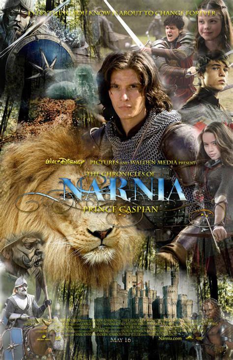 film narnia princ kaspian chronicles of narnia prince caspian movie poster on behance
