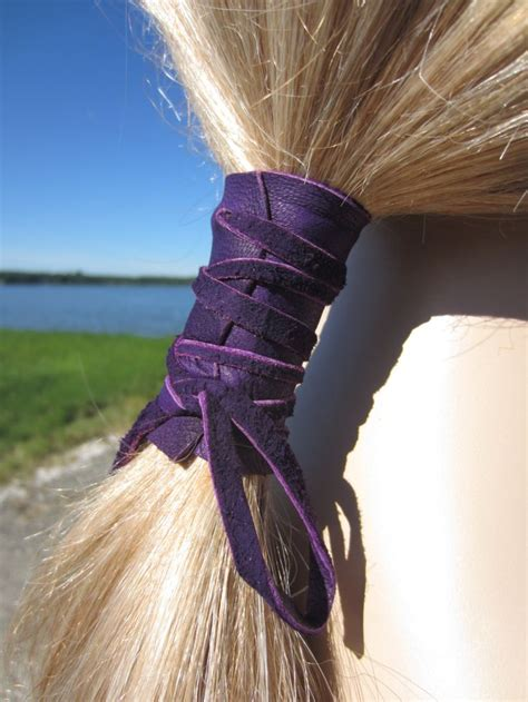 how to make a leather ponytail holder ehow 22 best leather hair wraps images on pinterest hair