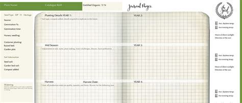 garden journal template pictures to pin on pinterest