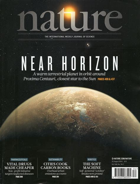 science magazine cover letter nature journal