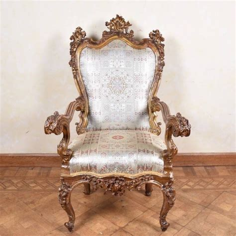 Italian Armchairs by Important Italian Armchair 17th Century