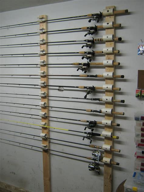diy fishing rod holder ceiling mounted rod holder fishing