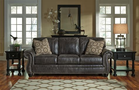 furniture amazing classic nailhead trim leather and faux leather sofa with rolled arms and nailhead trim by