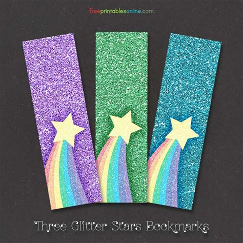printable rainbow bookmarks free rainbow glitter bookmarks free printables online