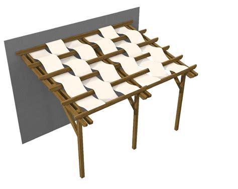teli per gazebo pergola in legno addossata con teli onda gazebo florence