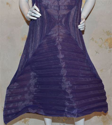 Origami Clothing Line - issey miyake purple pleated origami a line dress for sale