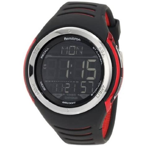 armitron sport s 40 8250red sport with black