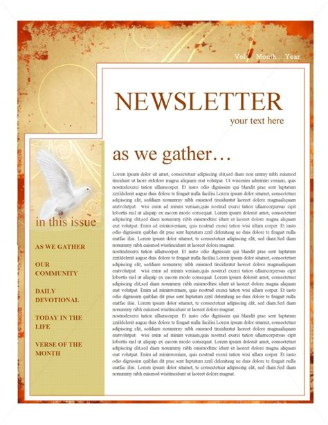 Superior Free Church Newsletter Templates Microsoft Word #3: Page-02.jpg
