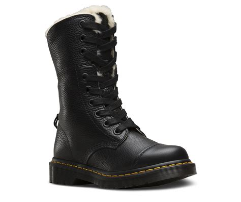 boot and shoe dr martens aimilita fur lined black sally boot