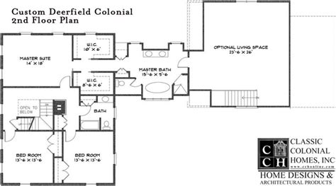 traditional colonial floor plans cch custom deerfield colonial floor plan other metro