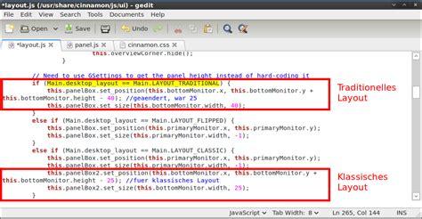 js panel layout linux cinnamon panelgr 246 223 e modifizieren dev blog id10t