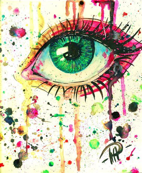 arts drawing photos colourful eye by poplavskaya on deviantart