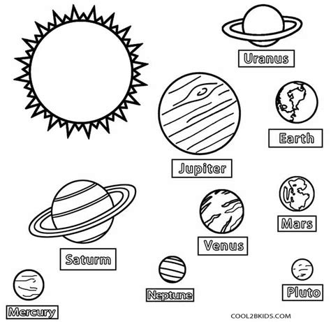 Planet Coloring Pages With The 9 Planets free the nine planets coloring pages