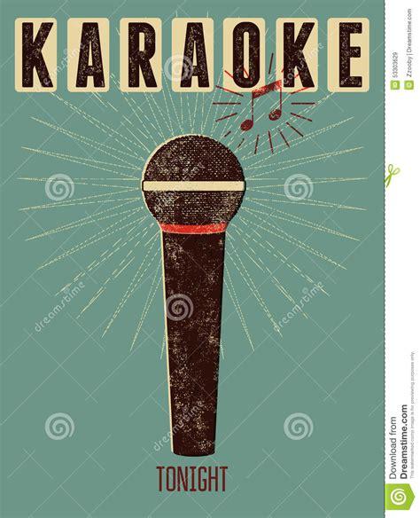 imagenes retro karaoke cartel retro tipogr 225 fico del karaoke del grunge