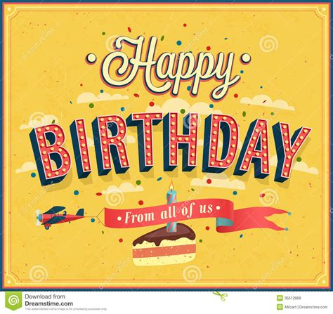 happy birthday design in illustrator happy birthday typographic design stock vector image