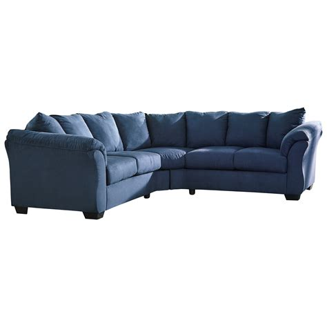 ashley darcy sofa chaise signature design by ashley darcy blue contemporary
