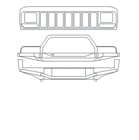 jeep front drawing autocad 2010 xj drawing and offroad bumper jeep