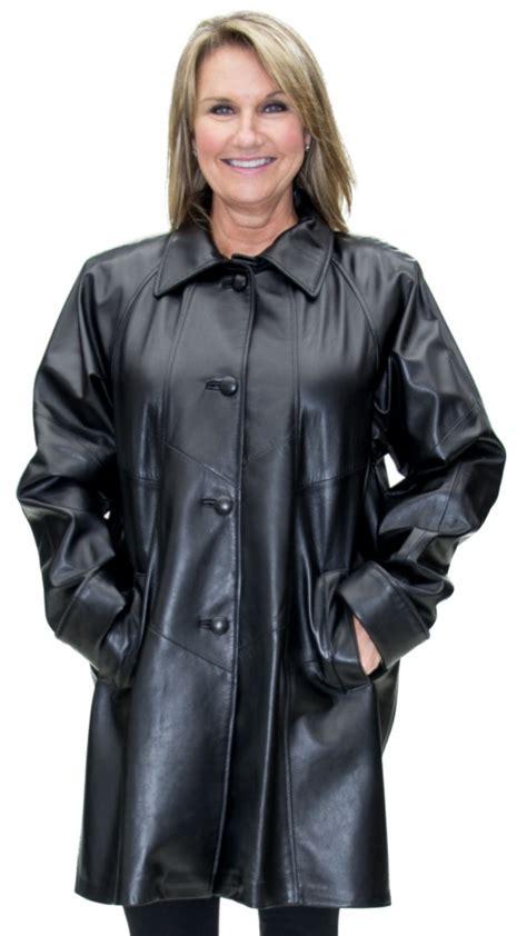 Semi Coat Big Size Jumbo Lvl black cabretta leather 36 semi swing coat a j ugent furs