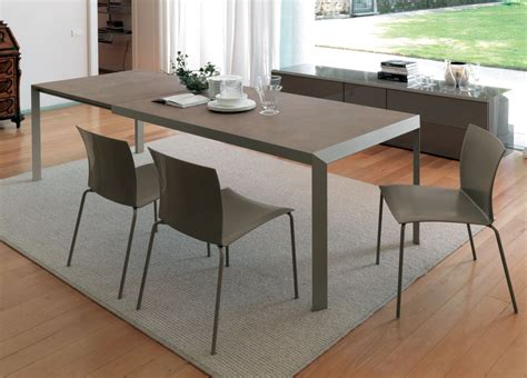 izac extending dining table contemporary extending