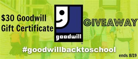 Goodwill Gift Card - goodwill 30 gift card giveaway