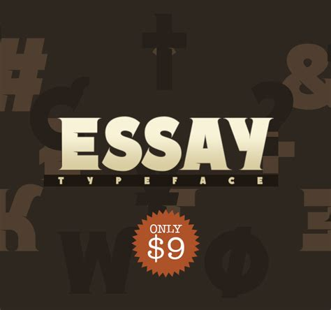 Essay Font Family by Noem9studio S Essay Font Family 8 Styles Only 9 Mightydeals
