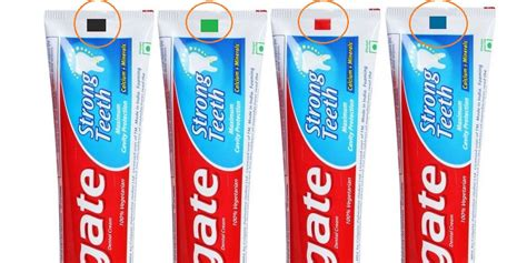 toothpaste color code interesting information the
