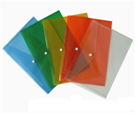 How To Make A Paper File - 25 x a4 a5 plastic stud document wallets folders poppers