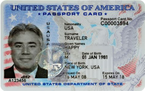 usa id card template what is a us passport card
