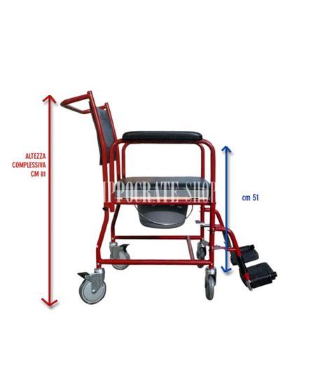 poltrona comoda comoda con vaso e ruote per anziani e disabili