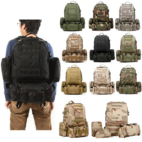 Tas Gear Bag Army 50l outdoor sports rucksack backpack cing hiking