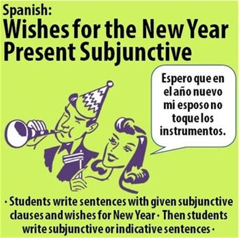 spanish wishes for the new year with present subjunctive