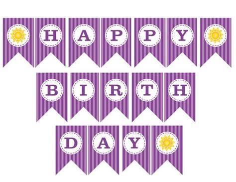 free printable birthday banner purple free printable birthday banners cute and beautiful