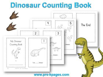 printable numbers booklet dinosaur theme preschool lesson plans and activities