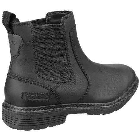 rockport retreat zip up chelsea s black boots