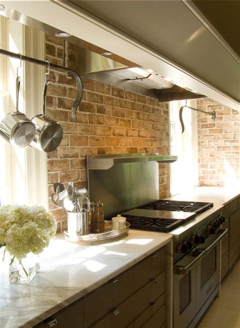 faux brick backsplash ideas pictures remodel and decor exiting brick wall kitchen backsplash rustic interior