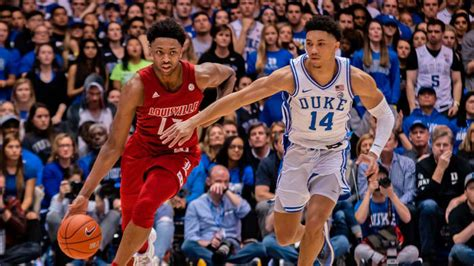college basketball stock report louisville  duke