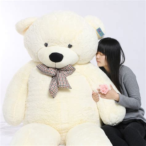 Boneka Beruang White Teddy aliexpress buy joyfay white 91 quot 230cm teddy 2 3m stuffed plush teddy