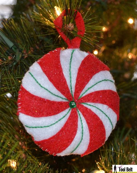 day  christmas peppermint candy ornament  tool belt