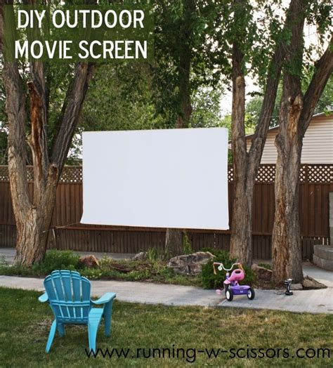 how to make a backyard movie screen how to host a backyard movie party diy for life