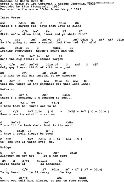 Someone To Watch Over Me Guitar Chords