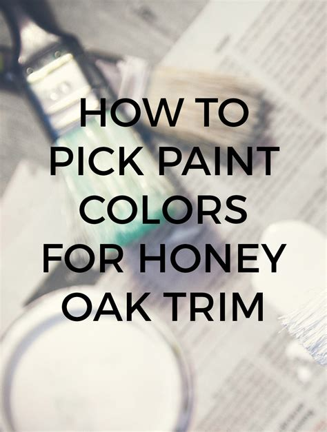 coordinating paint colors with oak trim