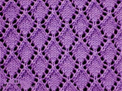 knitting on the net stitches openwork diamonds pattern 1 knitting stitch patterns