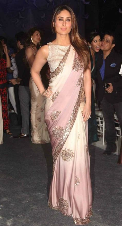 Kareena In High Neck Blouse by 21 Amazing Pics Of Sleeveless Blouse Designs