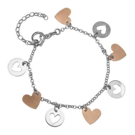 sterling silver two tone charm bracelet walmart ca